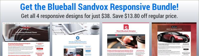 Blueball Sandvox Responsive Bundle Is Here!