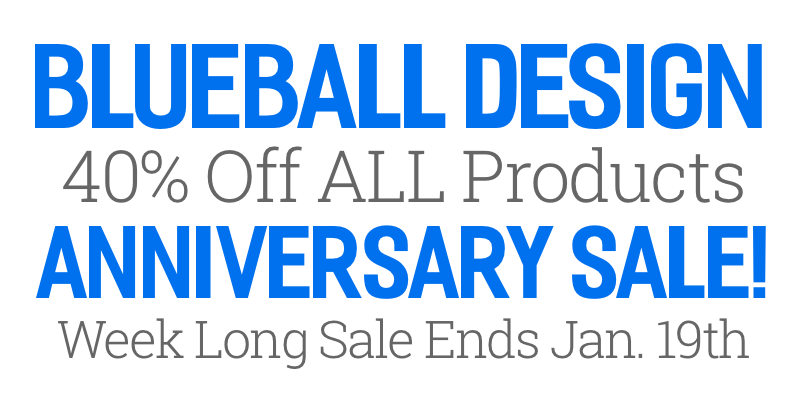 Blueball Design Anniversary Sale