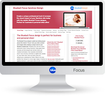 Blueball Focus - The perfect Sandvox design choice for business & personal sites alike!