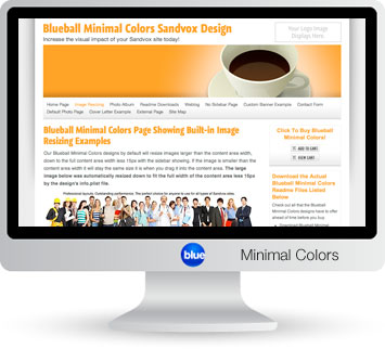 Blueball Minimal Colors - The perfect Sandvox design choice for photography, blog, business & personal sites!
