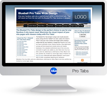 Blueball Pro Tabs - Our top selling best value Sandvox design!