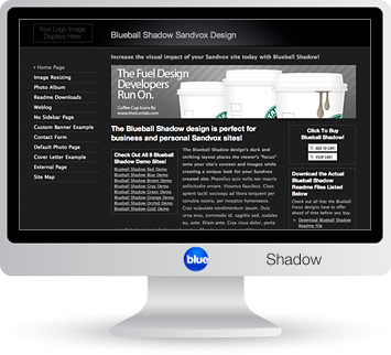 Blueball Shadow - The perfect Sandvox design choice for photography, blog, business & personal sites!