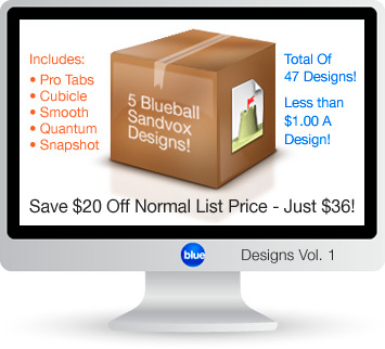 Blueball Sandvox Designs Vol. 1 - Save $20.00 off list price!