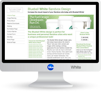 Blueball White - The perfect Sandvox design choice for photography, blog, business & personal sites!