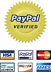 Use Paypal with any major credit card to buy our designs!