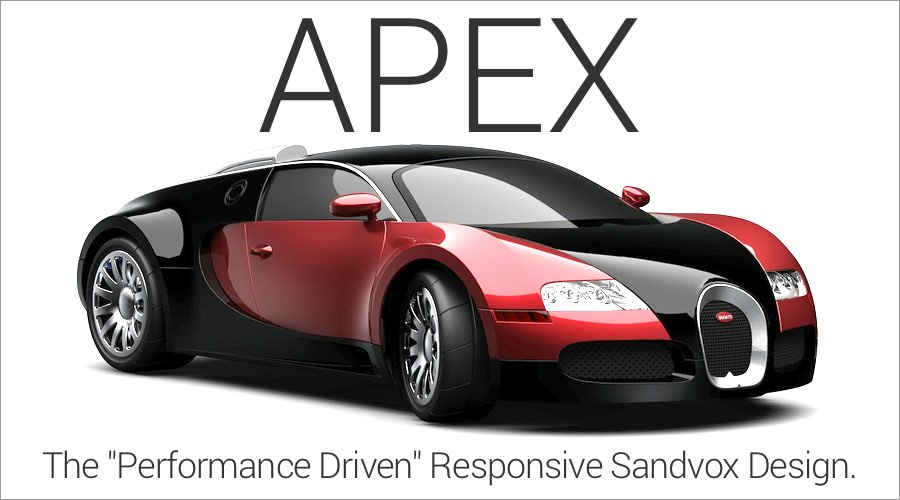 Create you rnext Sandvox masterpiece with Blueball Apex!