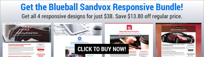 Buy Blueball Sandvox Responsive Bundle Now - Get 4 designs for the price of 3!