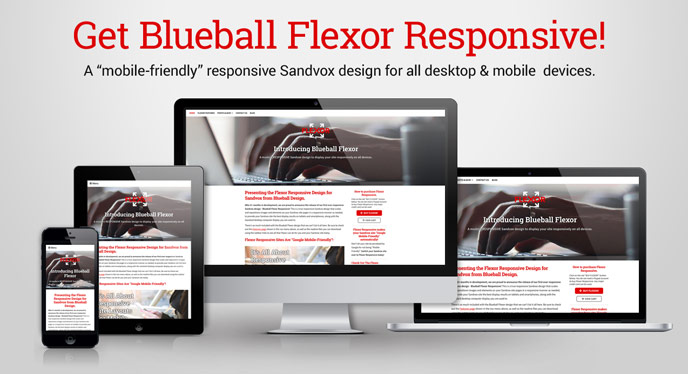 Get Blueball Flexor - The Responsive Mobile-Friendly Sandvox Design!