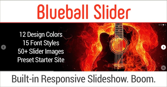 Get Blueball Slider - The Only Sandvox Design With A Built-in Responsive Slideshow. Boom!
