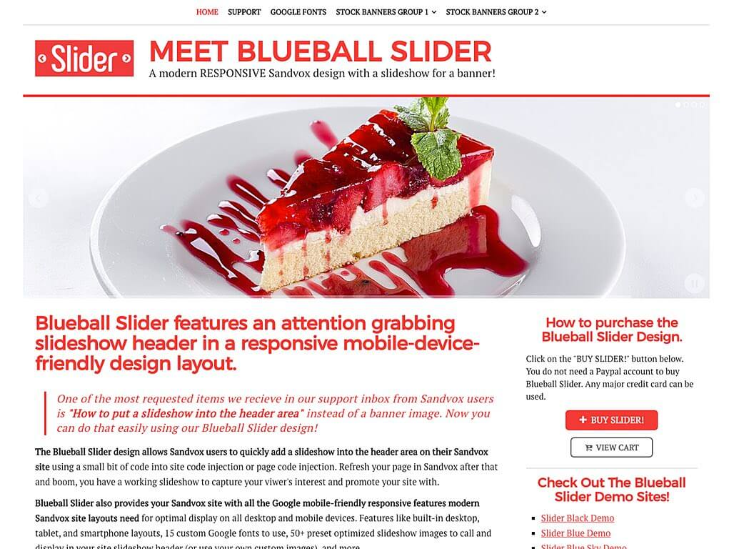 Blueball Slider Redresponsive design with header slideshow released